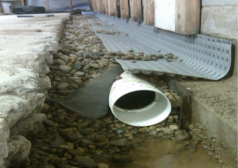 french drain basement meet the french drain