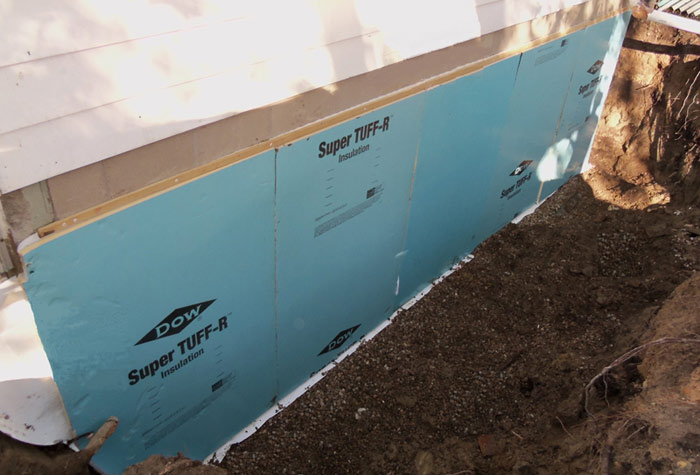 Basement exterior basement waterproofing for Basement foundation walls